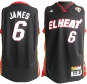Wholesale Cheap Miami Heat #6 LeBron James Latin Nights Revolution 30 Swingman Black Jersey