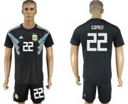 Wholesale Cheap Argentina #22 Gomez Away Soccer Country Jersey