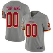 Wholesale Cheap Nike Washington Redskins Customized Gray Men's Stitched NFL Limited Inverted Legend Jersey