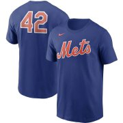 Wholesale Cheap New York Mets Nike Jackie Robinson Day Team 42 T-Shirt Royal