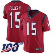 Wholesale Cheap Nike Texans #15 Will Fuller V Red Alternate Men's Stitched NFL 100th Season Vapor Limited Jersey