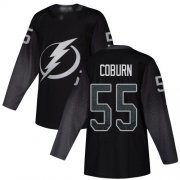 Cheap Adidas Lightning #55 Braydon Coburn Black Alternate Authentic Youth Stitched NHL Jersey