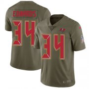 Wholesale Cheap Nike Buccaneers #34 Mike Edwards Olive Men's Stitched NFL Limited 2017 Salute To Service Jersey