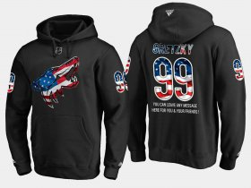 Wholesale Cheap Coyotes #99 Wayne Gretzky NHL Banner Wave Usa Flag Black Hoodie
