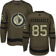 Wholesale Cheap Adidas Jets #85 Mathieu Perreault Green Salute to Service Stitched NHL Jersey
