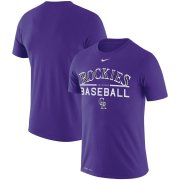 Wholesale Cheap Colorado Rockies Nike Practice Performance T-Shirt Purple