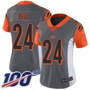 Wholesale Cheap Nike Bengals #24 Vonn Bell Silver Women's Stitched NFL Limited Inverted Legend 100th Season Jersey