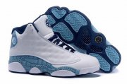 Wholesale Cheap Air Jordan 13 High QUAI 54 Shoes White/blue