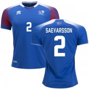 Wholesale Cheap Iceland #2 Saevarsson Home Soccer Country Jersey