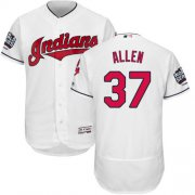 Wholesale Cheap Indians #37 Cody Allen White Flexbase Authentic Collection 2016 World Series Bound Stitched MLB Jersey