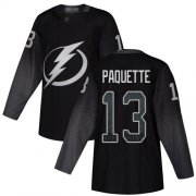 Cheap Adidas Lightning #13 Cedric Paquette Black Alternate Authentic Stitched NHL Jersey