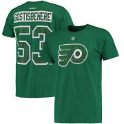 Wholesale Cheap Philadelphia Flyers #53 Shayne Gostisbehere Reebok St. Paddy's Day Name & Number T-Shirt Green