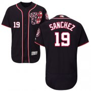 Wholesale Cheap Nationals #19 Anibal Sanchez Navy Blue Flexbase Authentic Collection Stitched MLB Jersey