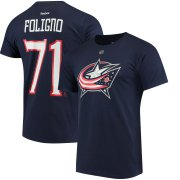 Wholesale Cheap Columbus Blue Jackets #71 Nick Foligno Reebok Home Name & Number T-Shirt Navy