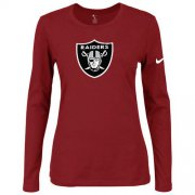 Wholesale Cheap Women's Nike Las Vegas Raiders Of The City Long Sleeve Tri-Blend NFL T-Shirt Red