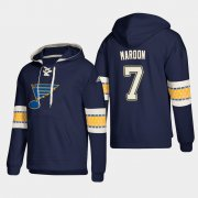 Wholesale Cheap St. Louis Blues #7 Patrick Maroon Blue adidas Lace-Up Pullover Hoodie