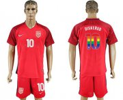 Wholesale Cheap USA #10 Diskerud Red Rainbow Soccer Country Jersey