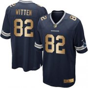 Wholesale Cheap Nike Cowboys #82 Jason Witten Navy Blue Team Color Youth Stitched NFL Elite Gold Jersey