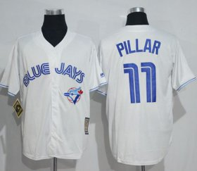 Wholesale Cheap Blue Jays #11 Kevin Pillar White Cooperstown Throwback Stitched MLB Jersey