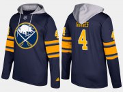 Wholesale Cheap Sabres #4 Josh Gorges Blue Name And Number Hoodie
