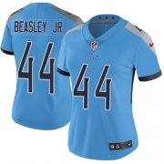 Wholesale Cheap Nike Titans #44 Vic Beasley Jr Light Blue Alternate Women's Stitched NFL Vapor Untouchable Limited Jersey