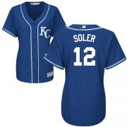 Wholesale Cheap Royals #12 Jorge Soler Royal Blue Alternate Women's Stitched MLB Jersey