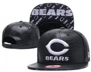 Wholesale Cheap NFL Chicago Bears Team Logo Black Snapback Adjustable Hat G85