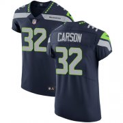 Wholesale Cheap Nike Seahawks #32 Chris Carson Steel Blue Team Color Men's Stitched NFL Vapor Untouchable Elite Jersey