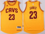 Wholesale Cheap Cleveland Cavaliers #23 LeBron James Revolution 30 Swingman 2014 New Yellow Jersey