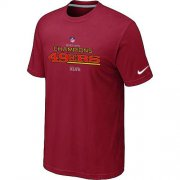 Wholesale Cheap Men's Nike San Francisco 49ers 2012 NFC Conference Champions Trophy Collection Long T-Shirt Red