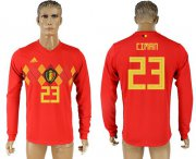 Wholesale Cheap Belgium #23 Ciman Red Home Long Sleeves Soccer Country Jersey