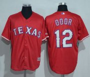 Wholesale Cheap Rangers #12 Rougned Odor Red New Cool Base Stitched MLB Jersey