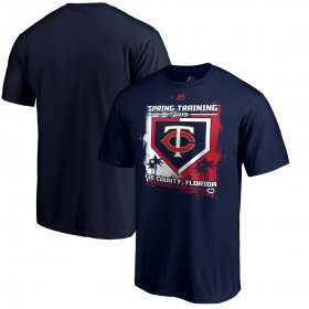 Wholesale Cheap Minnesota Twins Majestic 2019 Spring Training Base On Ball T-Shirt Navy