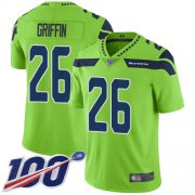 Wholesale Cheap Nike Seahawks #26 Shaquem Griffin Green Men's Stitched NFL Limited Rush 100th Season Jersey