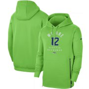 Wholesale Cheap Seattle Seahawks Nike Sideline Local Performance Pullover Hoodie Neon Green