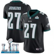 Wholesale Cheap Nike Eagles #27 Malcolm Jenkins Black Alternate Super Bowl LII Youth Stitched NFL Vapor Untouchable Limited Jersey