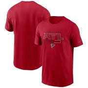 Wholesale Cheap Atlanta Falcons Nike Team Property Of Essential T-Shirt Red