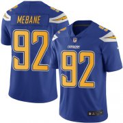 Wholesale Cheap Nike Chargers #92 Brandon Mebane Electric Blue Men's Stitched NFL Limited Rush Jersey