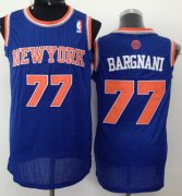 Wholesale Cheap New York Knicks #77 Andrea Bargnani Blue Swingman Jersey