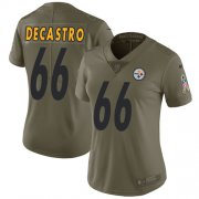 Wholesale Cheap Nike Steelers #66 David DeCastro Olive Women's Stitched NFL Limited 2017 Salute to Service Jersey