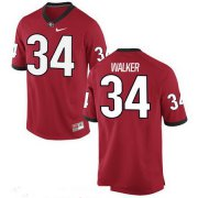 Wholesale Cheap Men's Georgia Bulldogs #34 Herschel Walker Red Stitched College Football 2016 Nike NCAA Jersey_
