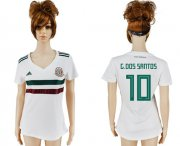 Wholesale Cheap Women's Mexico #10 G.Dos Santos Away Soccer Country Jersey