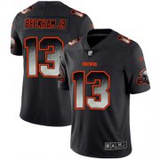 Wholesale Cheap Nike Browns #13 Odell Beckham Jr Black Men's Stitched NFL Vapor Untouchable Limited Smoke Fashion Jersey