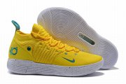 Wholesale Cheap Nike KD 11 Bright Yellow Storm