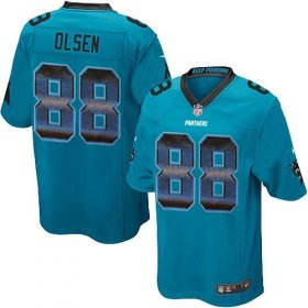 Wholesale Cheap Nike Panthers #88 Greg Olsen Blue Alternate Men\'s Stitched NFL Limited Strobe Jersey