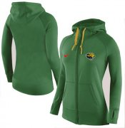 Wholesale Cheap Women's Nike Jacksonville Jaguars Full-Zip Performance Hoodie Green