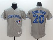 Wholesale Cheap Blue Jays #20 Josh Donaldson Grey Flexbase Authentic Collection Stitched MLB Jersey