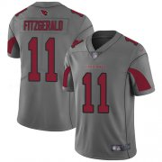 Wholesale Cheap Nike Cardinals #11 Larry Fitzgerald Silver Men's Stitched NFL Limited Inverted Legend Jersey