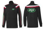 Wholesale Cheap NFL New York Jets Team Logo Jacket Black_2