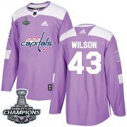 Wholesale Cheap Adidas Capitals #43 Tom Wilson Purple Authentic Fights Cancer Stanley Cup Final Champions Stitched NHL Jersey